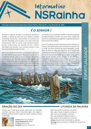 Informativo Semanal 617.pdf - PARóQUIA NOSSA SENHORA ...