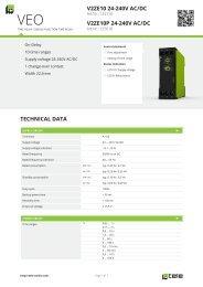technical data v2ze10 24-240v ac/dc v2ze10p 24-240v ... - Tele Haase