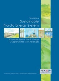 Sustainable Nordic Energy System - Nordicenergyperspectives.org