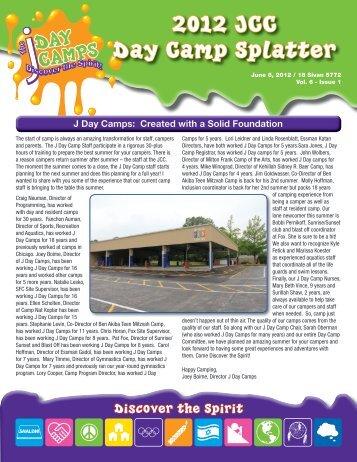 2012 JCC Day Camp Splatter - Jewish Community Center