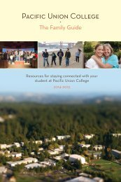 The Family Guide - Pacific Union College