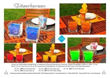 Kerzen im Gießverfahren handgefertigt, in modernen Farben und ...