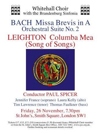 View flyer - Whitehall Choir