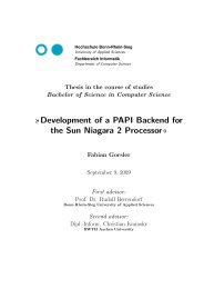 Development of a PAPI Backend for the Sun Niagara 2 Processor