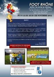 PV N°115 DU JEUDI 1ER NOVEMBRE 2012
