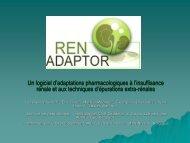 RENADAPTOR E-poster - Service de néphrologie dialyse