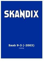 SKANDIX Catalog: Saab 9-3 (-2003)