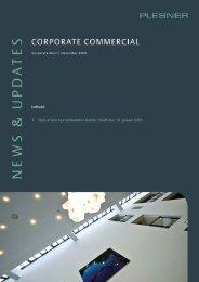 1 Dele af den nye selskabslov træder i kraft den 18. januar ... - Plesner