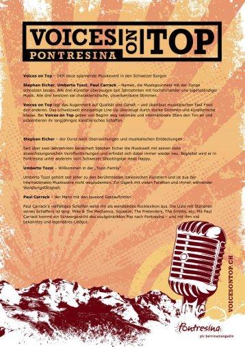 Pressemitteilung September 2010 Deutsch13. 09 ... - Voices on Top