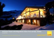 Exclusive Chalet with Magnificent Indoor Pool and Spa, Verbier