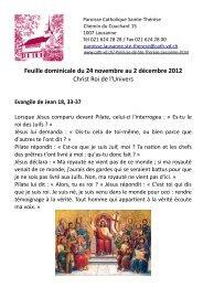 Feuille dominicale du 24 novembre au 2 décembre ... - Cath-vd.ch