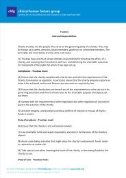 Trustee Role and Responsibilities 2011