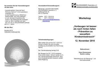 12. November 2010 - WILDWASSER Chemnitz