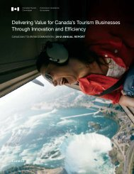 Delivering Value for Canada's Tourism Businesses Through ...