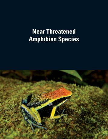 Near Threatened Amphibian Species - Amphibian Specialist Group
