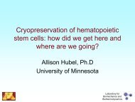 Cryopreservation of hematopoietic stem cells: how did we get here ...