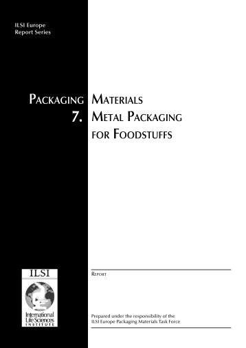 packaging materials 7. metal packaging for foodstuffs - Europa