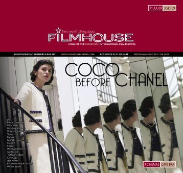 BEFORE CHANEL - Filmhouse Cinema Edinburgh