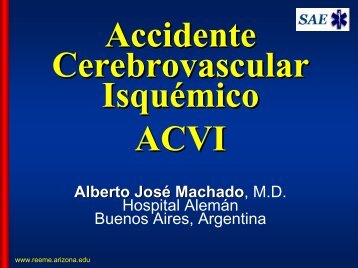 ACCIDENTE CEREBRO VASCULAR - Reeme.arizona.edu