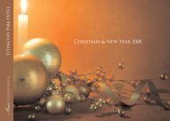 Christmas & New Year 2008 - Hand Picked Hotels