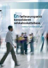 Enfælleseuropæisk konsolideret selskabsskattebase - Corit Advisory