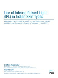Use of Intense Pulsed Light (IPL) in Indian Skin Types - ResearchGate
