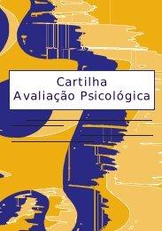 Cartilha Avaliação Psicológica - Conselho Federal de Psicologia