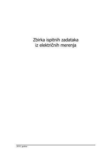 Zbirka ispitnih zadataka iz električnih merenja - Katedra za ...