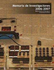 Memoria de Investigaciones 2006-2007 - Universidad Don Bosco