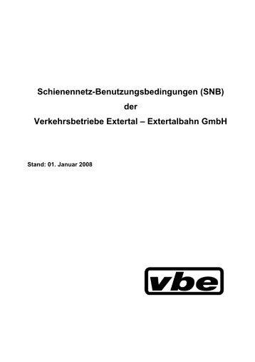 Schienennetz-Benutzungsbedingungen (SNB) - Verkehrsbetriebe ...