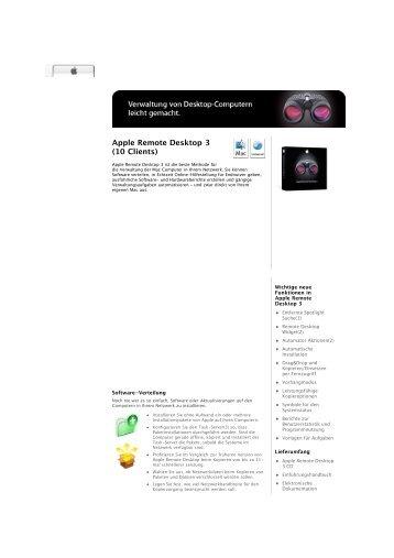 Apple Remote Desktop 3 (10 Clients)