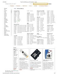 Flash Card Memory at Pricewatch - lowest prices, sales ... - Willus.com