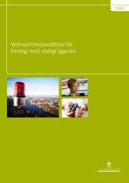 Verksamhetsberättelse för företag med statligt ägande 2009