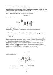 Génie électrique - Concours ENSEA