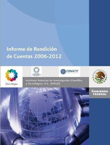Informe de Rendición de Cuentas IPICYT A.C. Primera Etapa