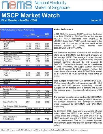 MSCP Market Watch - EMC