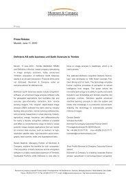Definiens AG sells business unit Earth Sciences to Trimble