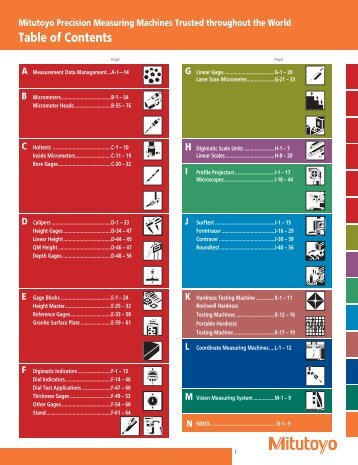 Mitutoyo1001 Catalog.pdf - JW Donchin CO.