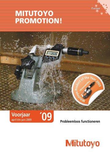 Mitutoyo acties 2009 - NL