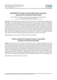 Qualidade de água na microbacia do Coqueiro, noroeste do ... - UFRB