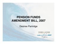 PENSION FUNDS AMENDMENT BILL, 2007