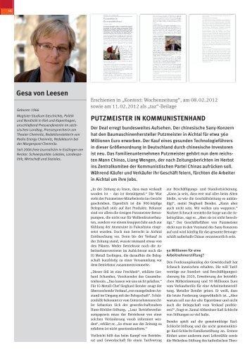 gesa von leesen - Willi-Bleicher-Preis