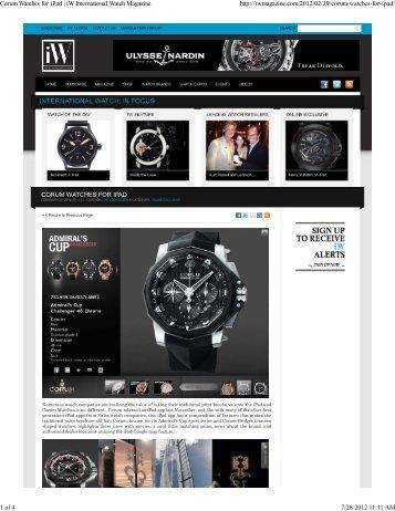 Corum Watches for iPad | iW International Watch ... - Minus4Plus6.com