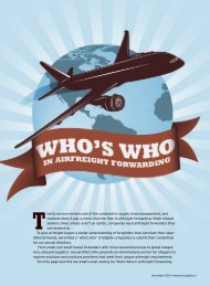 Who's Who in Airfreight Forwarding - Inbound Logistics