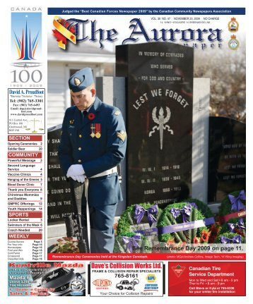 Nov 23 2009 - The Aurora Newspaper