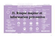 II. Risque majeur et information préventive - Les services de l'État ...