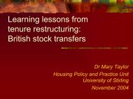 Learning lessons from tenure restructuring: British stock transfers