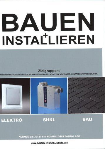 """""""BAUEN+INSTALLIEREN"""" Februar 2012 - Auro"""