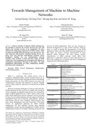 Towards Management of Machine to Machine Networks - NM Lab at ...