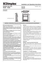 Instructions - Dimplex